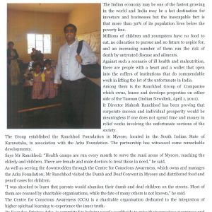 Indian Newslink Charity Work