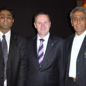 Prime Minister John Key with Mahesh and Ray Ranchhod