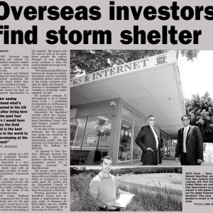 Overseas Investors find storm shelter